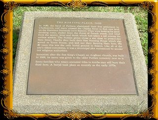 Burying Place Plaque