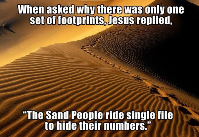 sand people footprints
