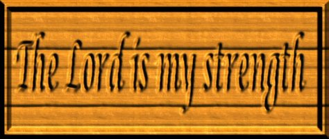 thelordismystrengthwoodcarving