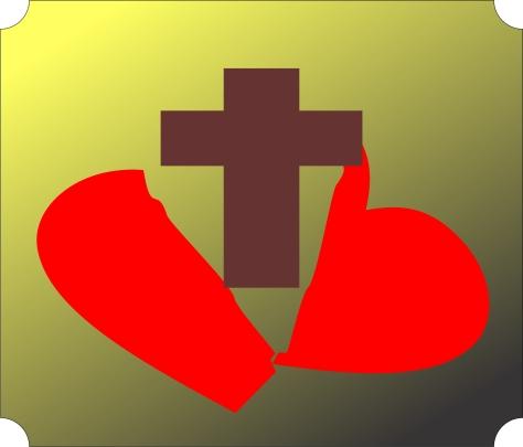 Broken Heart Cross