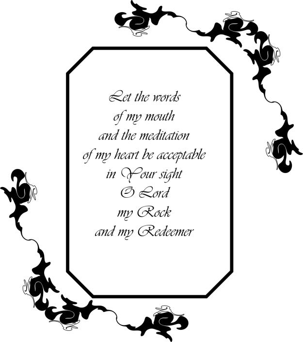 Psalm 19V14 B&W