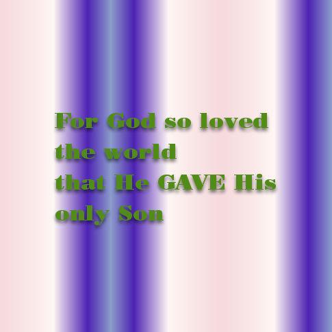 John 3 16a