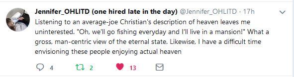 Jen's Heaven Tweet