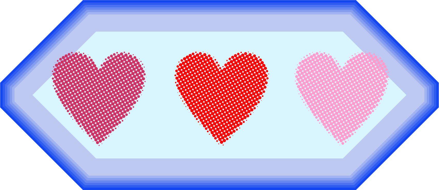 Pointilized Heart Sampler
