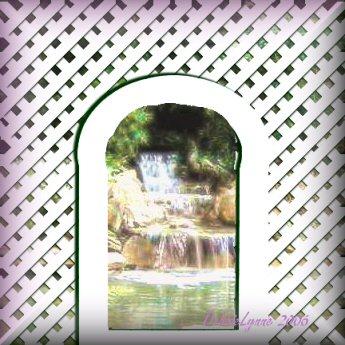 Waterfall Lattice Arch Frame