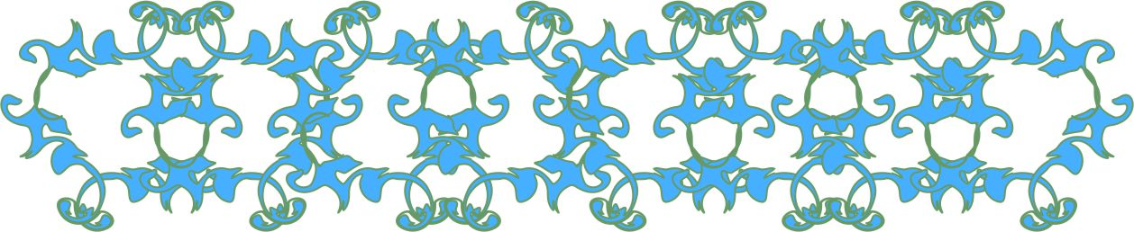 Blue Twirl Flip Border