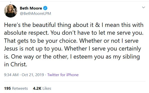 Beth Moore Steel Magnolia Tweet
